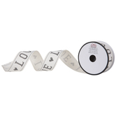 """Ivory Love Wired Edge Ribbon - 1 1/2"""""""