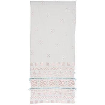 White, Pink & Blue Geometric Table Runner