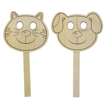 Dog & Cat Wood Masks