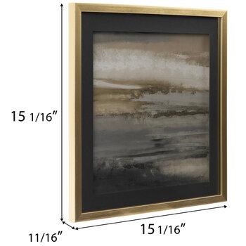 Gray & Brown Brushstrokes Framed Wall Decor