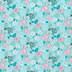 Turquoise Cotton Candy Floral Cotton Calico Fabric
