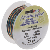 Blue & Red Artistic Wire - 22 Gauge