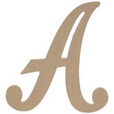 "Uppercase Script Wood Letter A - 6"""