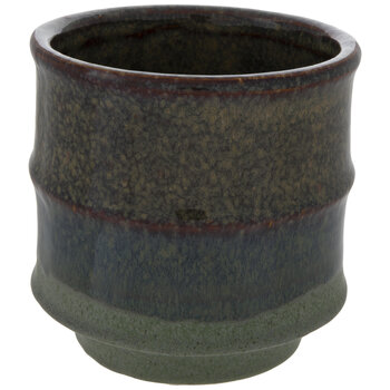 Blue Speckled Flower Pot