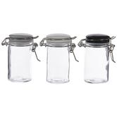 Black, Gray & White Glass Mason Jars