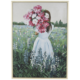 Woman With Flowers Canvas Wall Decor