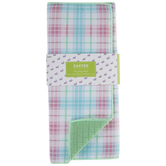 Pastel Plaid Drying Mat
