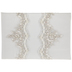 Ivory Floral Lace Guest Book
