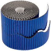 Metallic Blue Corrugated Border Roll