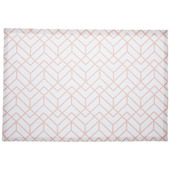 White & Pink Geometric Placemat