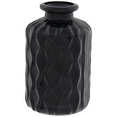 Black Wavy Glass Vase