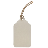 Ivory Scalloped Craft Tags