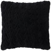 Ruffled Black Velvet Pillow
