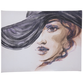 Woman In Floppy Hat Canvas Wall Decor