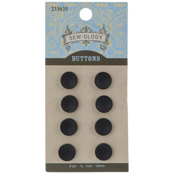Matte Concave Round Buttons - 10mm