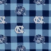 North Carolina Allover Collegiate Fleece Fabric