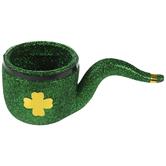 Green Glitter Four-Leaf Clover Pipe
