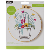 Cactus Bloom Embroidery Kit