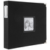 Black Cloth 3-Ring Scrapbook Album - 12