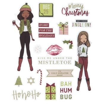 Christmas Girls Stickers