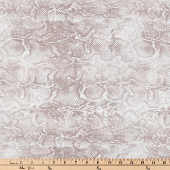 Gray Snake Skin Georgette Apparel Fabric