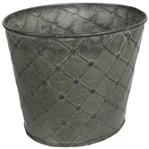 Diamond Pattern Oval Metal Pot