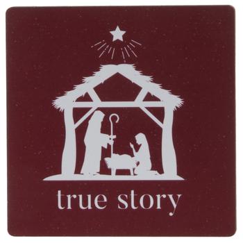 Nativity True Story Wood Magnet