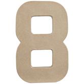 """Paper Mache Number 8 - 8"""""""