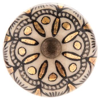 Foiled Floral Medallion Knob
