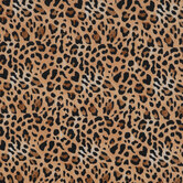 Brown Leopard Print Flannel Fabric