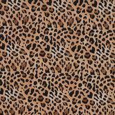 Brown Leopard Print Flannel Fabric