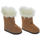 Brown Fur Boots Doll Shoes