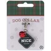 Naughty Nice Dog Collar Charm