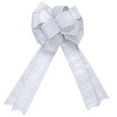 White & Silver Glitter Bow