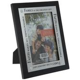 """Family & Faith Wood Frame - 4"""" x 6"""""""