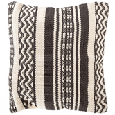 Gray & Cream Woven Pillow Cover