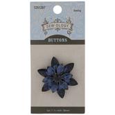 Rhinestone Flower Shank Button - 38mm
