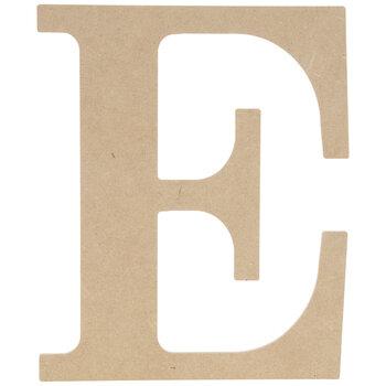 "Wood Letter E - 9 1/2"""