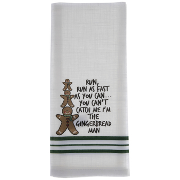 I'm The Gingerbread Man Striped Kitchen Towel