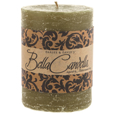 "Citronella Ginger Pillar Candle - 3"" x 4"""