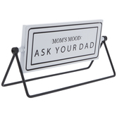 Mom's Mood Rotating Metal Decor
