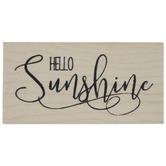 Hello Sunshine Rubber Stamp