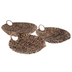 Brown Round Banana Leaf Baskets with Handles