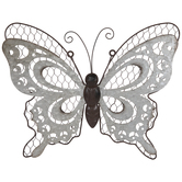 Butterfly With Moon Cutouts Metal Wall Decor