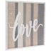 Love Striped Wood Wall Decor