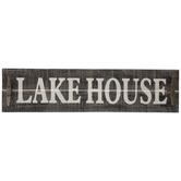 Lakehouse Wood Wall Decor With Hooks