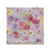 Floral Napkins With Gold Foil Edge - Small