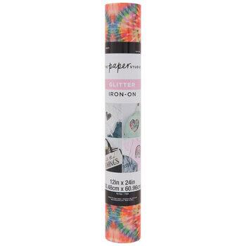 Multi-Color Tie-Dye Glitter Iron-On Vinyl
