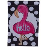 Hello Flamingo Garden Flag