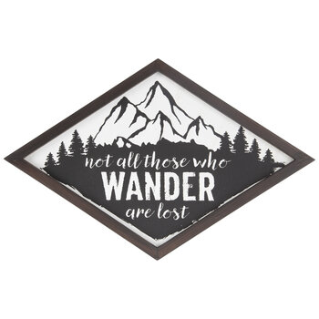 Not All Who Wander Are Lost Diamond Wood Wall Decor